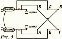 Схему электродвигателя