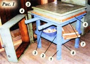 сделал столик