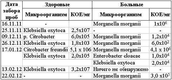 Энтеробактерии в микрофлоре