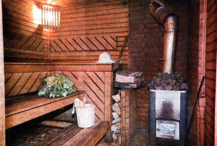 моечном отделении бани