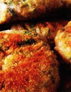 Куриные котлеты с рисом и кабачком