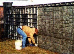 бетонного забора